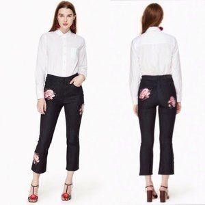 Kate Spade New York Rose Kick Flare Jeans NWT